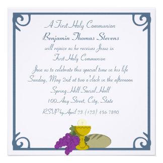 Première communion invitation personnalisable