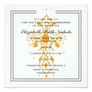 Première confirmation de baptême de communion de carton d'invitation  13,33 cm