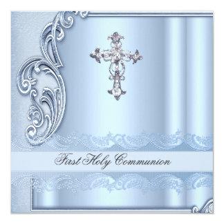 Première confirmation de bleu de sainte communion bristols personnalisés