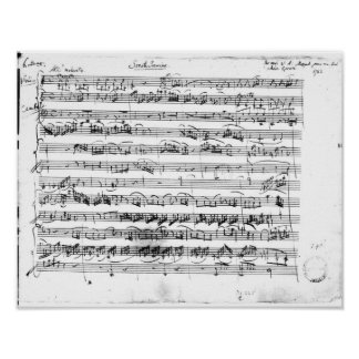 Première de Sonate pour le violon et le clavecin Posters
