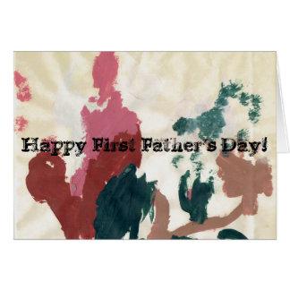 Première fête des pères heureuse ! carte de vœux