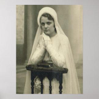 Première fille de sainte communion affiches