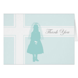Première fille du carte de remerciements | de