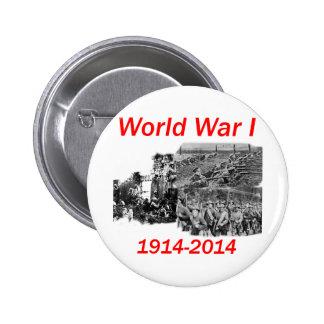 Première Guerre Mondiale (1914-2014) Badge Rond 5 Cm
