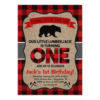 Première invitation d'anniversaire de bûcheron