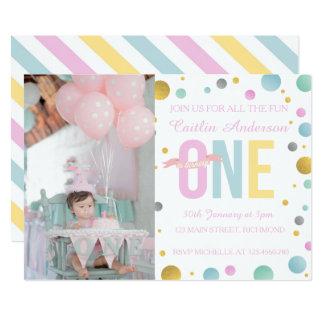 Première invitation d'anniversaire de filles -
