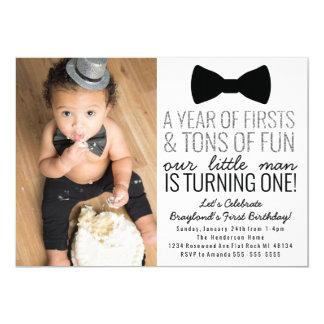 Première invitation d'anniversaire de petit homme