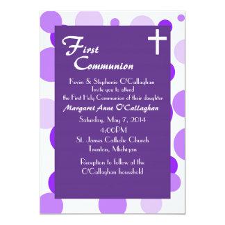 Première invitation de communion - fille