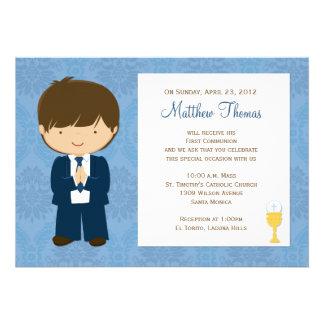 Première invitation de communion pour le garçon
