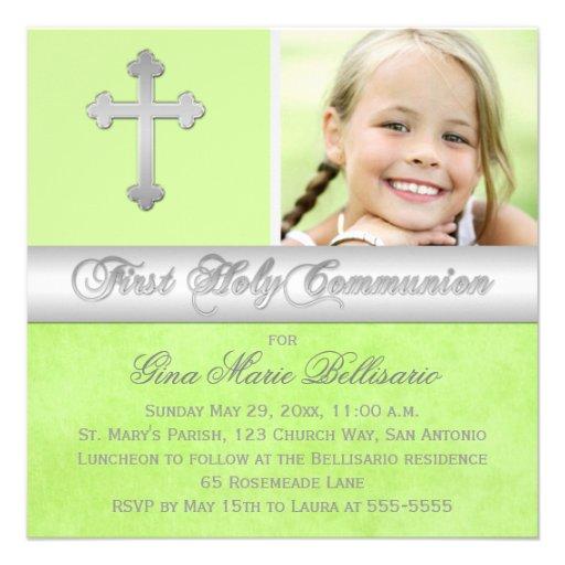 Première invitation de photo de sainte communion