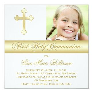 Première invitation de photo de sainte communion carton d'invitation  13,33 cm