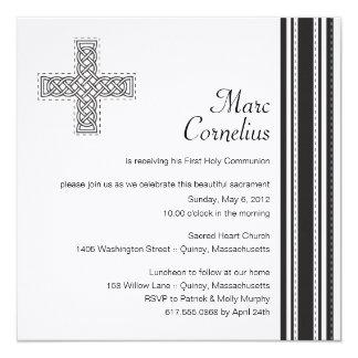 Première invitation de sainte communion de croix