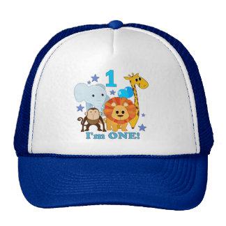 Première jungle d'anniversaire casquettes