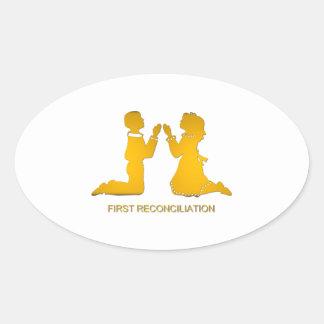 Première réconciliation sticker ovale