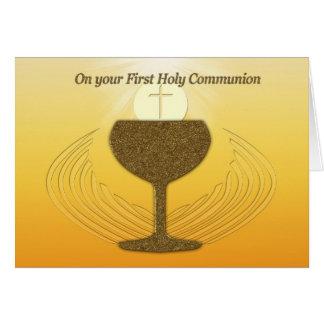 Première sainte communion carte de vœux
