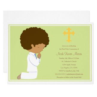 Première sainte communion - invitation du vert |