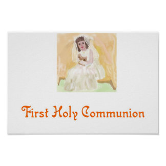 Première sainte communion posters