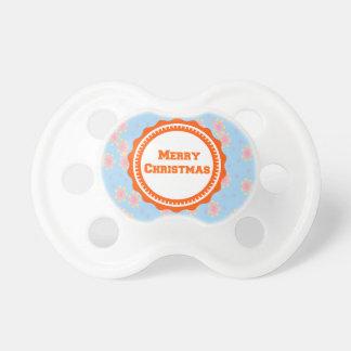 Première tétine du Joyeux Noël du bébé orange