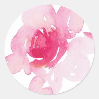 Premiers autocollants roses
