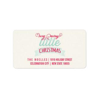 Premiers joyeux petits étiquettes de Noël du bébé
