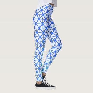 Prenant soin de guêtres blanches/bleues d'affaires leggings