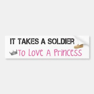 Prend un soldat pour aimer une princesse adhésif p autocollant de voiture