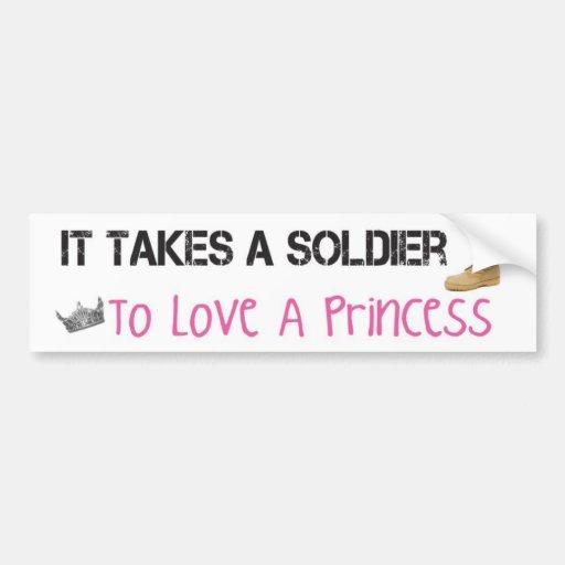 Prend un soldat pour aimer une princesse adhésif p adhésif pour voiture