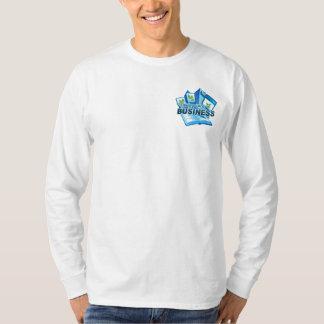 Prendre soin douille blanche d'hommes d'affaires t-shirt
