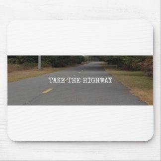 Prenez à la route le tapis de souris à deux voies