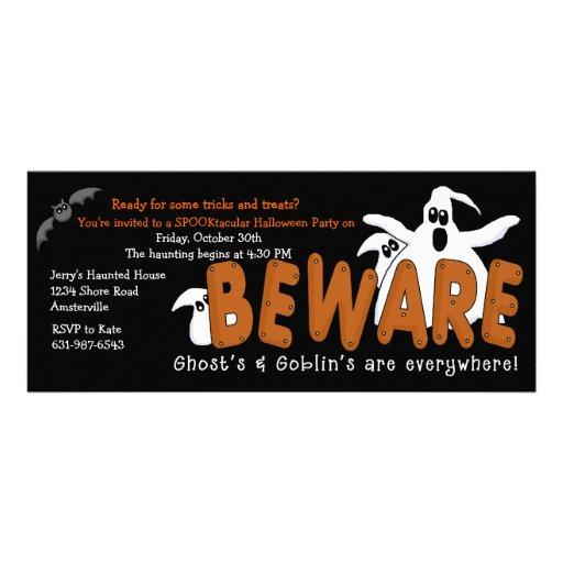Prenez garde des invitations de partie de Hallowee
