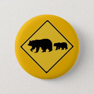 Prenez garde des ours, panneau d'avertissement du pin's