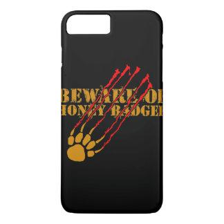 Prenez garde du blaireau de miel coque iPhone 8 plus/7 plus