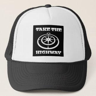 Prenez le casquette de camionneur de route