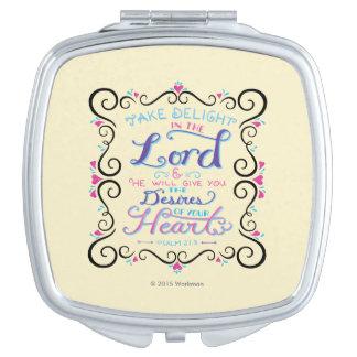 Prenez le plaisir dans le seigneur miroirs de poche