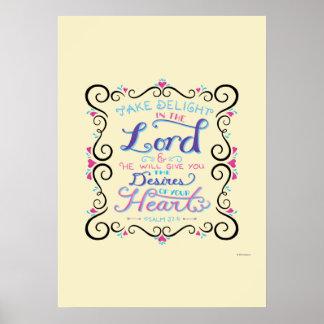 Prenez le plaisir dans le seigneur posters