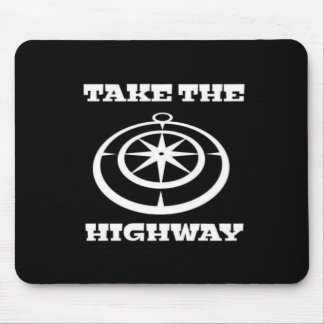 Prenez le tapis de souris de route
