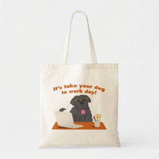 Prenez votre chien pour travailler Fourre-tout Sacs En Toile