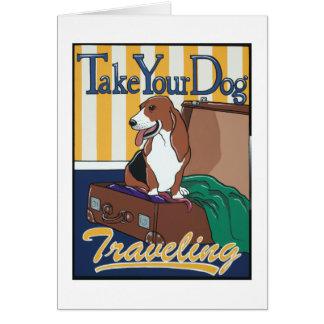 Prenez votre déplacement de chien carte de vœux