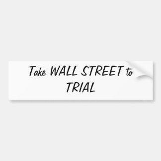 Prenez WALL STREET à l'adhésif pour pare-chocs D'E Autocollants Pour Voiture