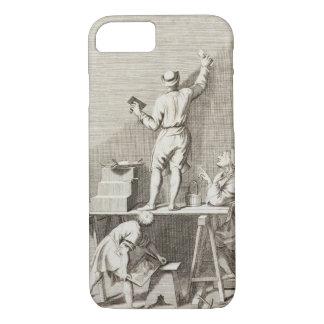 Préparant un mur pour la peinture de fresque coque iPhone 8/7