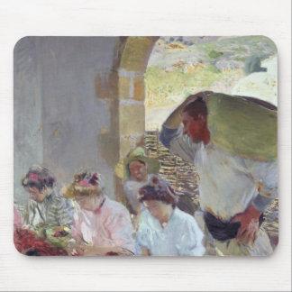 Préparation des raisins secs, 1890 tapis de souris