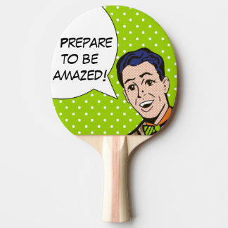 Préparez pour être palette stupéfaite de ping-pong raquette de ping pong