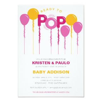 Préparez pour sauter l'invitation de baby shower carton d'invitation  12,7 cm x 17,78 cm