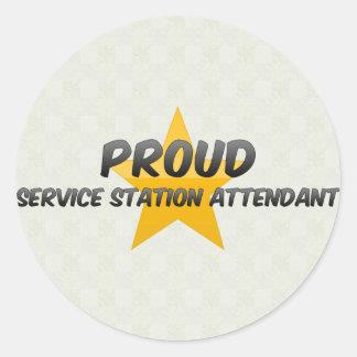 Préposé fier de station service autocollant