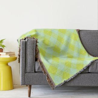 Preppie*-Pool-House-Argyle-Lime-Blue-Blanket Couverture