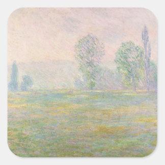 Prés de Claude Monet | en Giverny, 1888 Sticker Carré