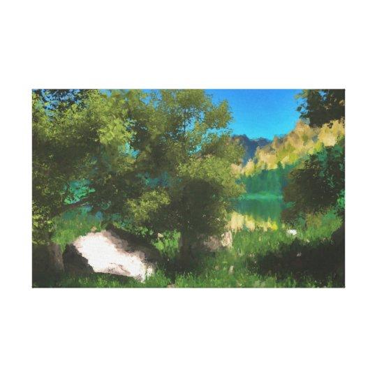 Près du lac numériquement peint à la main toiles