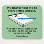 Prescription pour tuer le tapis de souris drôle de