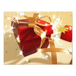 présent 3d carton d'invitation 10,79 cm x 13,97 cm
