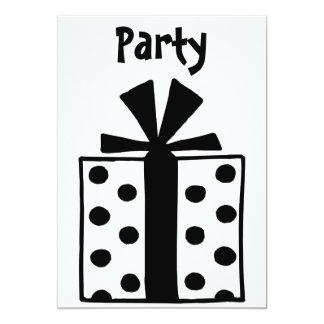 présent carton d'invitation  12,7 cm x 17,78 cm